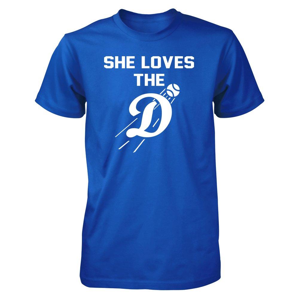 Tee Zone LA Los Angeles She Loves The D T-Shirt (2XL)