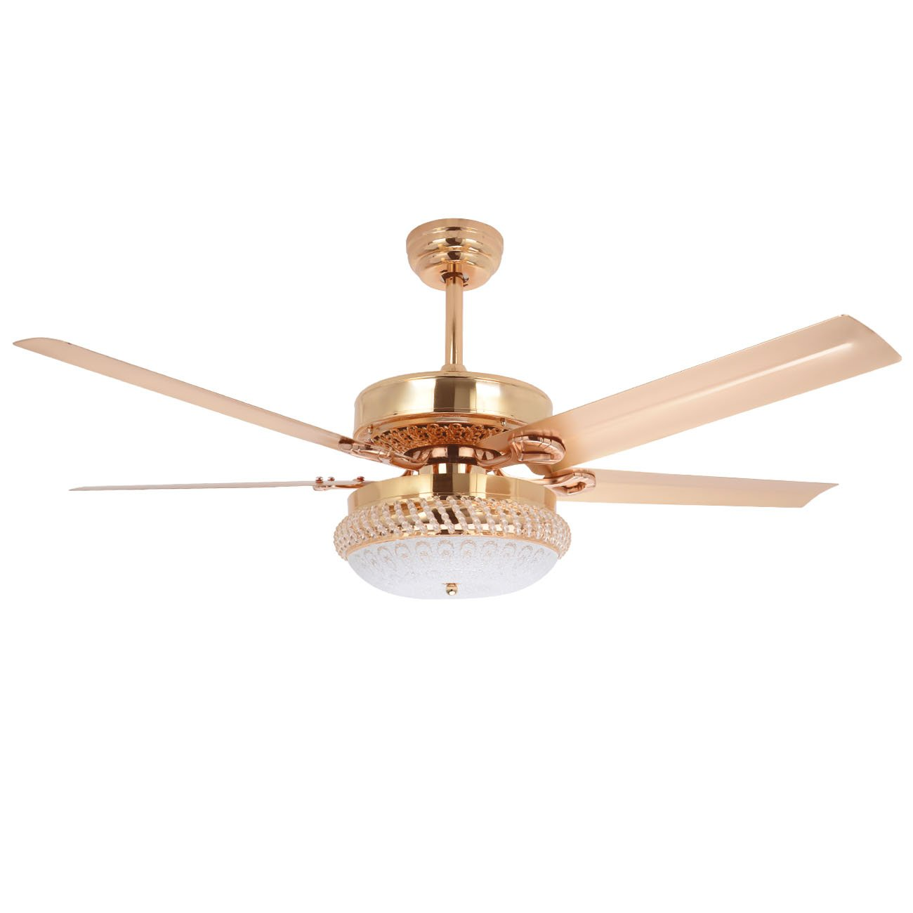 Tropicalfan Metal Led Ceiling Fan With Remote Control 1 Glass Light Cover Home 790996085050 Ebay