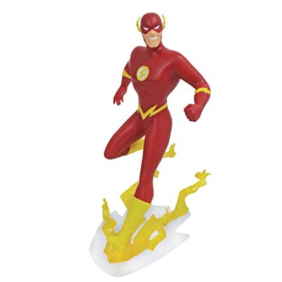 DIAMOND SELECT TOYS DC Gallery: Justice League Unlimited Animated Flash PVC Vinyl Figure: Toys & Games