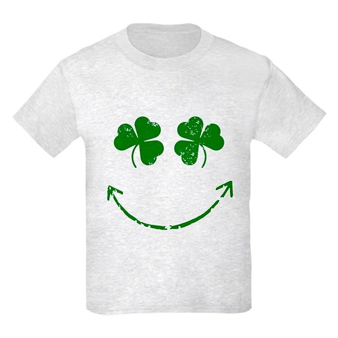aeb94a43f CafePress - St Patrick's Irish Shamrock S - Kids Cotton T-Shirt Ash Gray