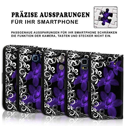 Wallet Book Style Flip Handy Tasche Case Schutz Hülle Schale Motiv Etui für Apple iPhone 4 / 4S - Design Flip MVD261