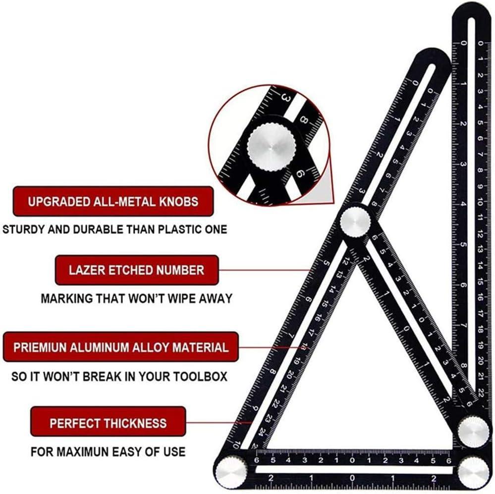 Herramienta de Plantilla de Angular Universal / / / / / / DBUKULELE Universal Six-Sided Angle Measuring Locator Herramienta de Plantilla de aleaci/ón de Aluminio de Seis Lados
