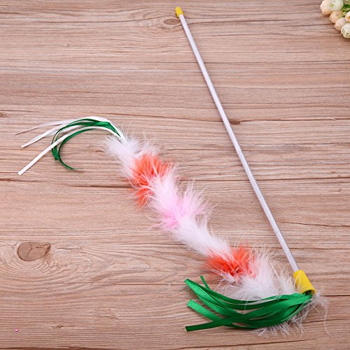 85%OFF Cat Toys Wand,WinnerEco Cute Funny Colorful Feather Tease Cats Dangle Rods Playing Pet Toys