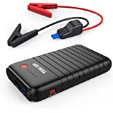 TENKER 500A 10800mAh Portable Car Jump Starter, Emergency Battery Booster, Portable Charger with QC3.0 and Type-C Output, LED Flashlight with 3 Modes