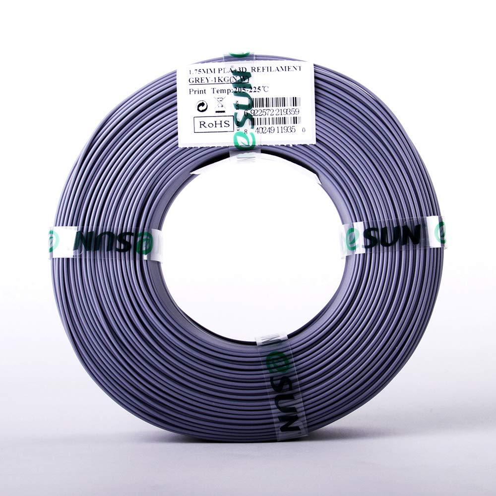 2.2lbs Gray 3D Printer Filament 1KG Refills PLA+ eSUN 1.75mm Gray PLA PRO