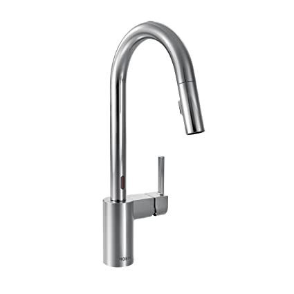 Moen 7565EC Align with Motionsense One-Handle High Arc Pulldown ...
