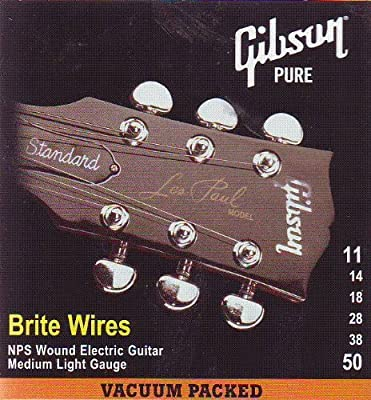 Gibson Brite Wires Electric Guitar Strings, Medium 11-50