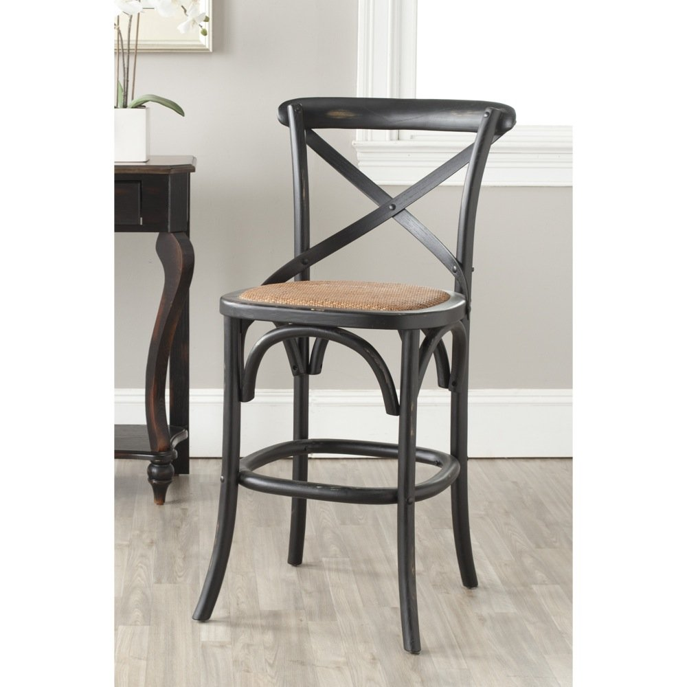 amazoncom safavieh american homes collection franklin hickory oak 307inch counter stool kitchen u0026 dining