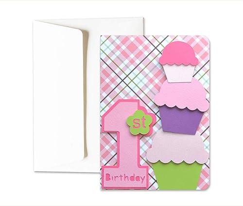 Mi primer cumpleaños - niña - tarjeta de felicitación y ...