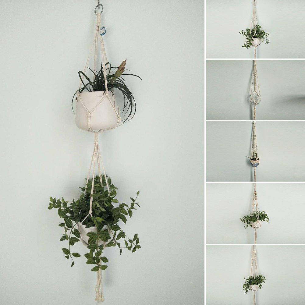 Wandbehang Blumentopf Aufhänger Halter Haus Pflanzgefäß Seil Korb Dekor
