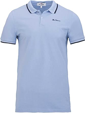 Ben Sherman Polo Logo Shirt, Color: Celeste, Tamaño: XS: Amazon.es ...
