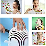 Cooking tools, Toamen 60 Second Salad Maker Cutter Bowl Healthy Fresh Salads Made Easy Tool Slicer