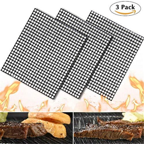 (SALI Store MINTIML GRILL MAT BBQ Grill Mesh Mat Non-Stick Teflon Cooking Sheet Liner)