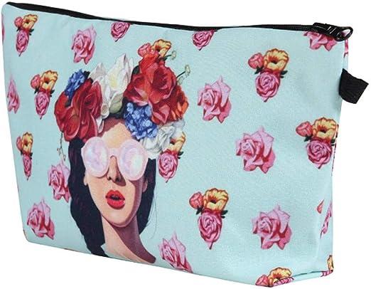 OHQ Moda Mujer Bolsa De Maquillaje Bolsa De Almacenamiento Estuche De Viaje Bolsa De Maquillaje CosméTico Guirnalda Corona De OtoñO: Amazon.es: Hogar
