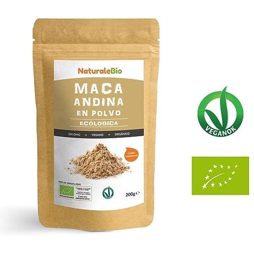 Maca Andina Ecológica en Polvo [ Gelatinizada ] 200g | Organic Maca Powder Gelatinized. 100% Peruana, Bio y Pura, extracto de raíz de Maca Organica.