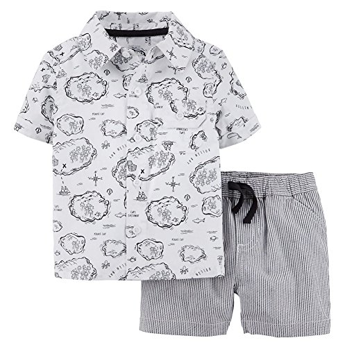 Apparel Castaway - Carter's Just One You Boy's 2 PC Short Set Cape Castaway Newborn