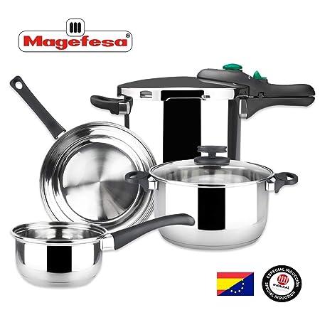 MAGEFESA - Batería de Cocina MAGEFESA Style 4 Piezas + Olla ...