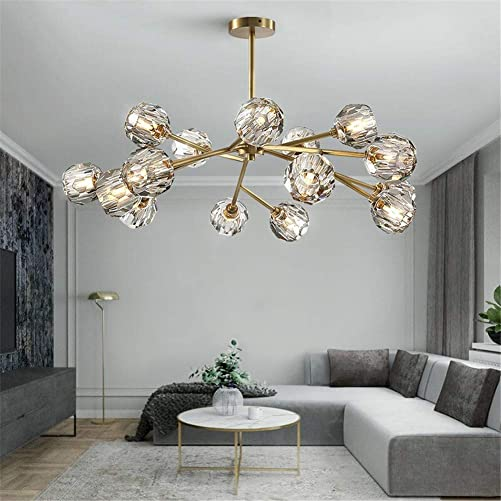 Modern Sputnik Chandeliers Crystal Pendant Light
