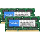 8GB Kit (2x4GB) DDR3 PC3-12800 SODIMM (204-Pin,1600mhz), TECMIYO PC3L-12800S 4GB Non ECC Unbuffered 1.35V/1.5V CL11 2RX8 Dual Rank for Laptops Notebook