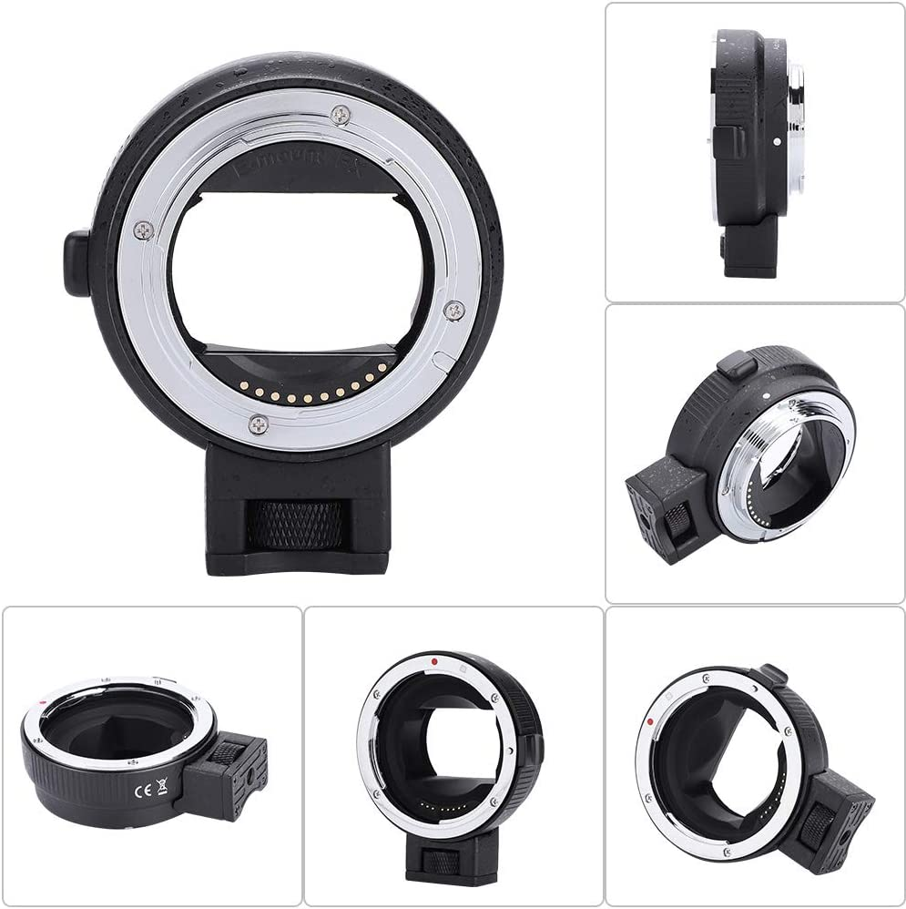 Professional Auto Focus EF-NEX II Mount Adapter for Canon EF//EF-S Lens to Sony E-Mount Camera Qii lu Camera Lens Adapter
