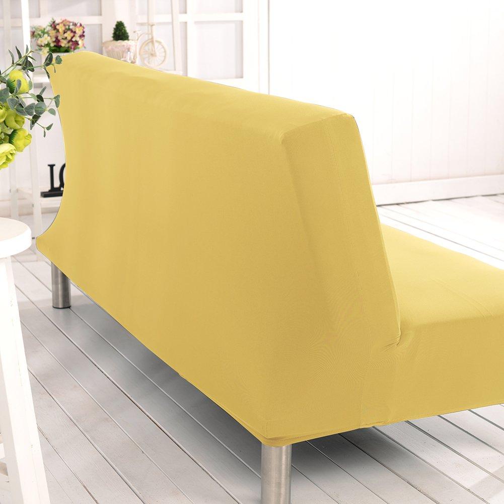 sofá sin brazo futon cubierta sofá liso slipcover sofá cama protector de la cubierta elástico spandex moderno sofá plegable simple sofá shield por ...