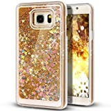 Liquid Case for Samsung Galaxy S7,Creative Design Floating Bling Glitter Sparkle Diamond Hexagon Stars Hard Plastic Case for Samsung Galaxy S7(Yellow)