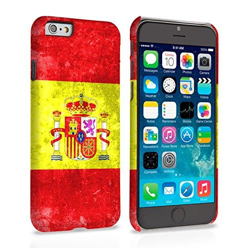 Caseflex iPhone 6 Plus / 6S Plus Hülle Retro Spanien Flagge Hart Schutzhülle (Kompatibel Mit iPhone 6 Plus / 6S Plus - 5.5 Zoll)