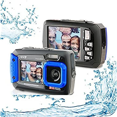 20MP Waterproof AQUA 8800 Shockproof UnderWater Digital Camera Video recorder (Blue) with 16GB card By SVP