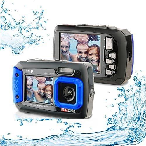 Silicon Valley Imaging Corp 8800-BU Waterproof 20MP Waterproof ACQUA 8800 Shockproof UnderWater Digital Camera Video Recorder (Blue)