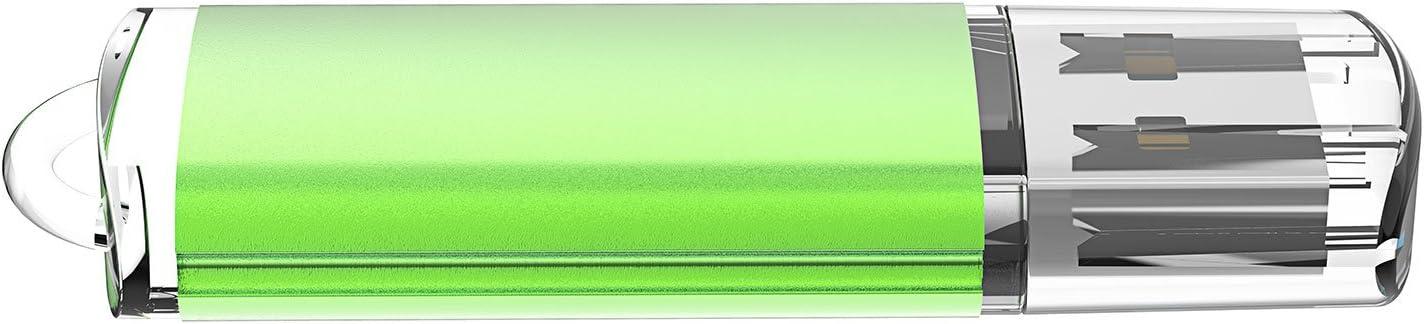 Blue//Purple//Pink//Green//Orange JUANWE 5 Pack 32GB USB Flash Drive USB 2.0 Thumb Drives Jump Drive Memory Stick Pen 32GB,5 Mixed Color