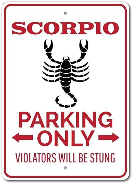 Amazon com: The Lizton Sign Shop Scorpio Parking Sign
