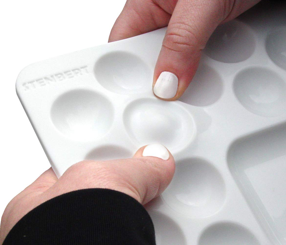 White Paint /& Pop Silicone Paint Palette No Stick Reusable Paint Tray for Art Crafts and Kids