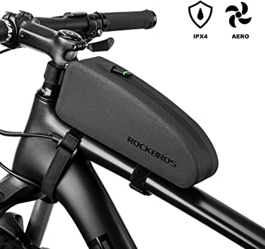 RockBros Bike Frame Bag Water Resistant IPX4 Top Tube Bag Bicycle Front Phone Bag Cycling Accessories Pouch