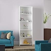 Modilayn 5 Raflı Kitaplık Kütüphane Beyaz Ard204