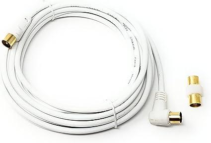 MainCore - Cable coaxial largo de ángulo derecho para antena de TV ...