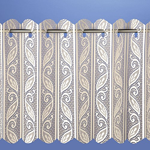 (Filigree Lace Net Voile Louvre Vertical Pleated Window Blind Panel Curtain 72