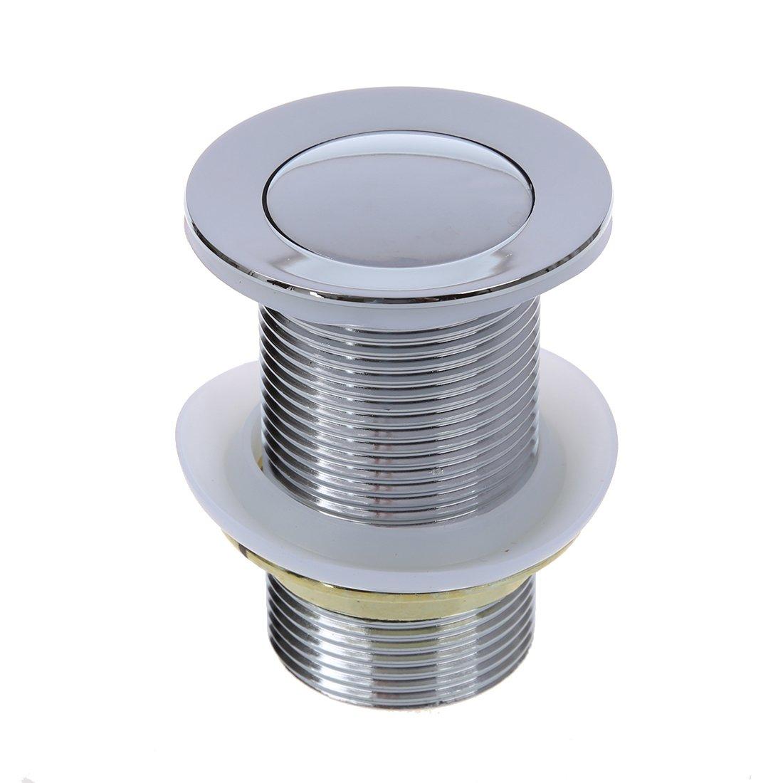 Semoic 8cm Bonde Pop-up Automatique Pr Evier Lavabo Sans Trop-plein