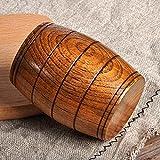 New Wooden Cup Log Color Handmade Natural Wood Coffee Tea Beer Juice Milk Mug, Portable Outdoor Camping Mug,Creative wine barrel shape Wooden cup
