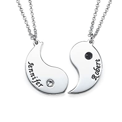 17d49ba9a Image Unavailable. Image not available for. Color: Engraved Yin Yang  Necklace ...