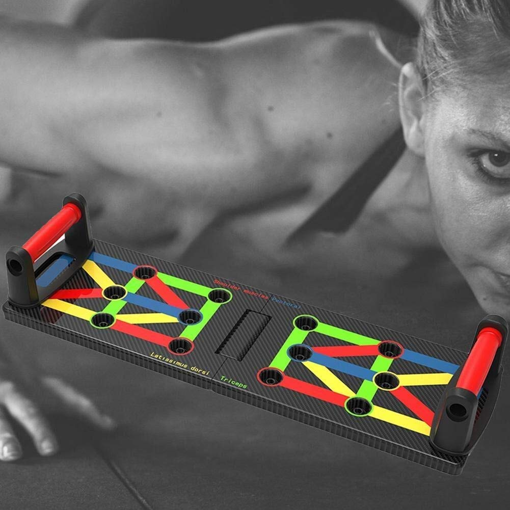 Penghayi Fitness Push-up Bracket Board,Unisex Ultra Push 9-in-1 Body Building Exercise Tools,Foldable Multi-Function Push Up Rack Board System for Shape Body Home Gym