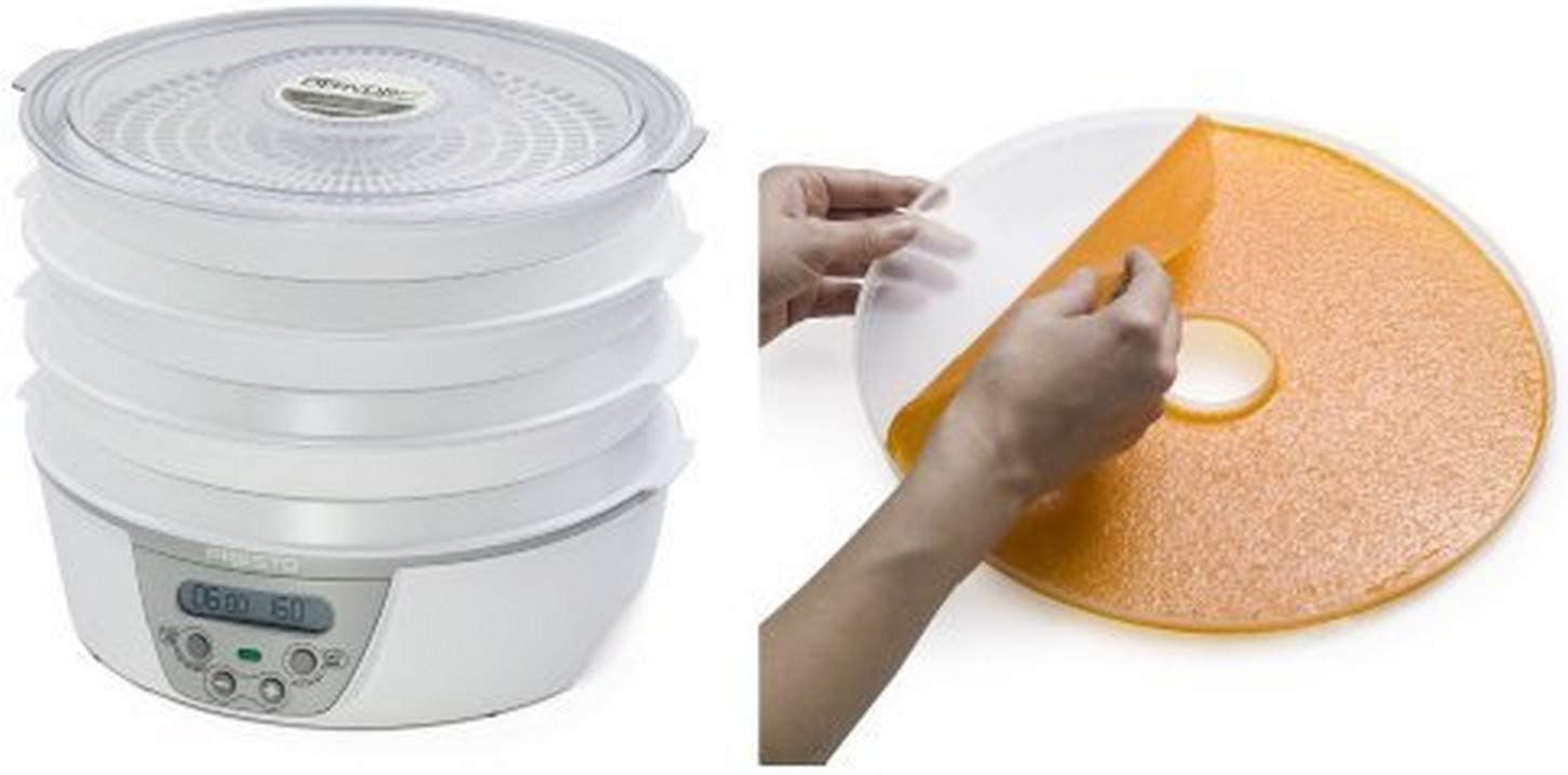 Presto 06301 Dehydro Digital Electric Food Dehydrator and National Presto Dehydro Electric Food Dehydrator Fruit Roll Sheets Bundle