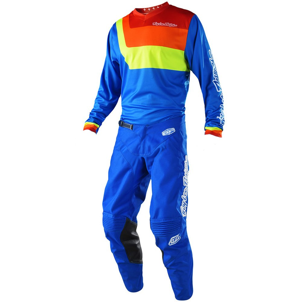 Troy Lee Designs GP Prisma Blue Jersey/Pant Combo - Size X-LARGE/34W