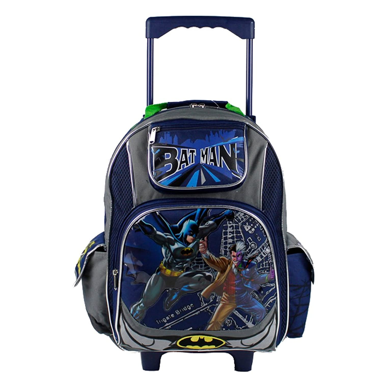 dc ics batman roller backpack two face wheeled