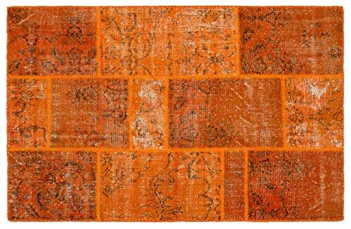 8'0'x11'0' Rectangular Rug (Nakkas Antique Handwoven Patchwork Rug Unique Orange 3'11'' X 6'0'')