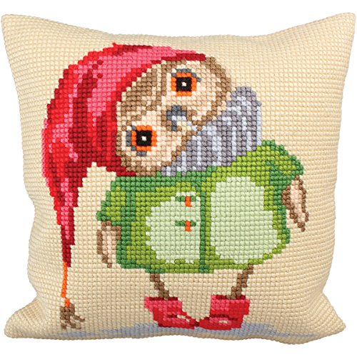 RTO Good Night Collection D'Art Stamped Needlepoint Cushion Kit, 40 x 40cm by RTO