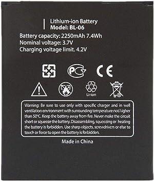 Bestome - Batería de Repuesto para Smartphone THL T6, T6 Pro, T6s, T6c BL-06 (3,7 V, 2250 mAh): Amazon.es: Electrónica