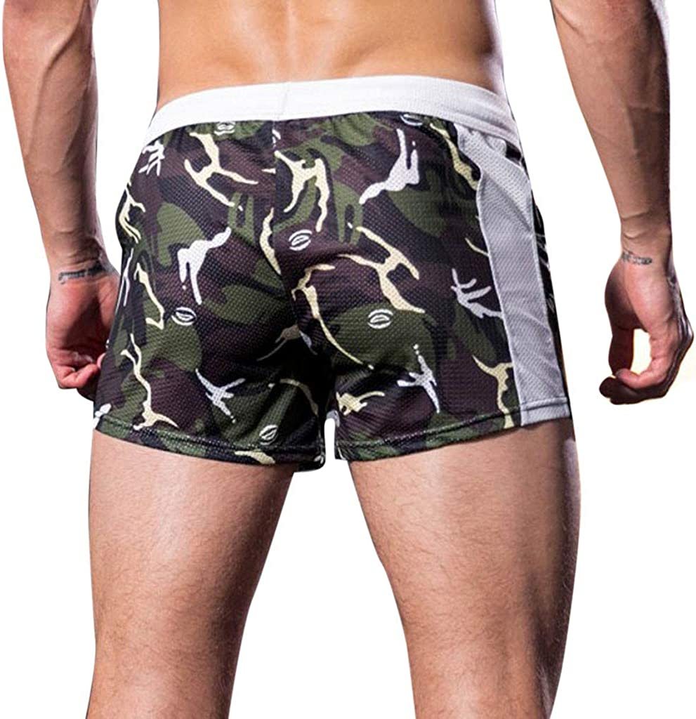 Palarn Sports Pants Casual Cargo Shorts Mens Summer Home Leisure Camouflage Sports Trousers Breathable Shorts Pants