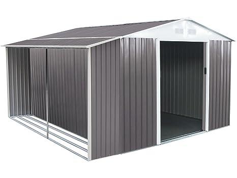 habitatetjardin Caseta de metal Dallas8,84 m² con leñero
