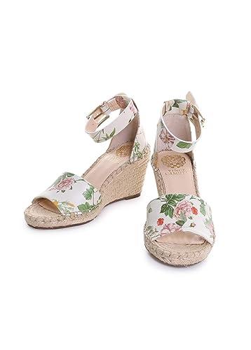 eb0e486b4ac Amazon.com   Vince Camuto Leera Floral Leather Ankle Strap ...