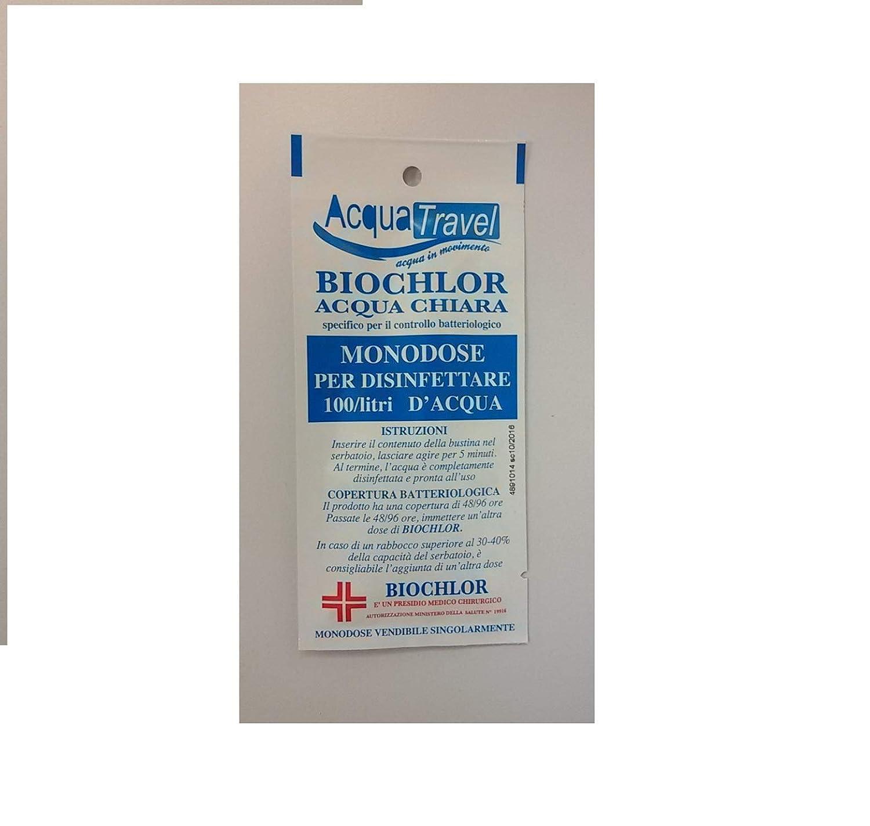 5 Bustina Biochlor Monodose Disinfettante Acque Chiare Camper Barca ACQUATRAVEL.
